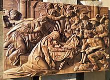 Drevorezba Betlehem 80x50 cm
