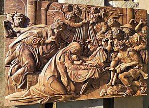 Dekorácie - Drevorezba Betlehem 80x50 cm - 11168739_