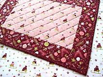 Úžitkový textil - Ružová Marsala... prestieranie 2 ks - 11168599_