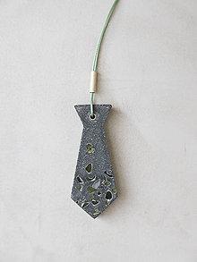 Náhrdelníky - Kravata - šedý betón - 11168268_