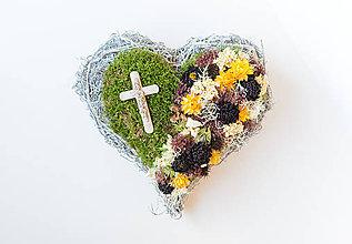 Dekorácie - Dušičkové srdce na hrob - 11169906_