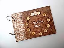 Papiernictvo - Fotoalbum folk svadobný * kniha hostí A5 - voliteľný nápis - 11168370_