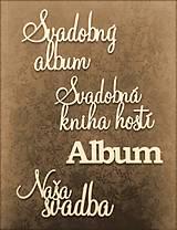 Papiernictvo - Fotoalbum svadobný * kniha hostí A5 - voliteľný nápis - 11168649_