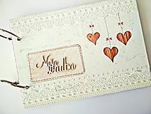Papiernictvo - Fotoalbum svadobný * kniha hostí A5 - voliteľný nápis - 11168652_