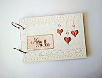 Papiernictvo - Fotoalbum svadobný * kniha hostí A5 - voliteľný nápis - 11168653_
