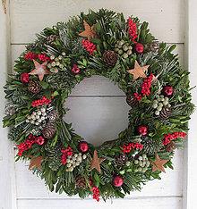 Dekorácie - Vianočný veniec prírodný - 11169142_
