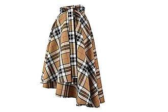 Sukne - KYLIE - škótska asymetrická zavinovacia sukňa (A3 - béžové) - 11169846_