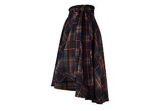 Sukne - FIONA - asymetrická zavinovacia sukňa (C4 - šedo-oranžové káro) - 11169966_