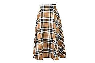 Sukne - RONA - polkruhová midi škótska sukňa - 11170070_