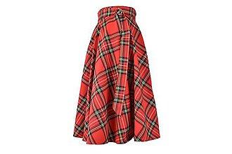 Sukne - AMILIA - kruhová zavinovacia škótska sukňa - 11170088_