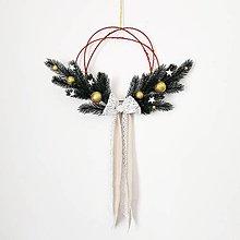 Dekorácie - Jednoduchý vianočný venček - 11169467_
