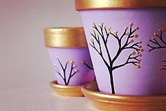 """- Kvetináče z kolekcie """"Magický pastel"""" (fialková, 3ks) - 11168180_"""