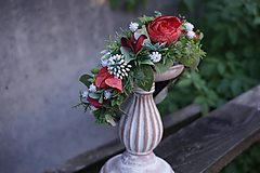 Ozdoby do vlasov - Čelenka - Červené kvety - 11169349_