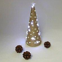 Dekorácie - SÍRIUS - vianočná dekorácia - stromček biely - 11169139_