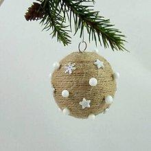 Dekorácie - SÍRIUS - vianočná dekorácia - gule a zvonček (guľa ø 6,5 cm) - 11169207_