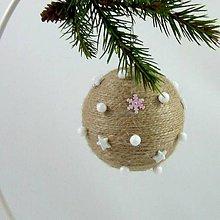 Dekorácie - SÍRIUS - vianočná dekorácia - gule a zvonček (guľa ø 7,5 cm) - 11169212_