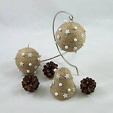 Dekorácie - SÍRIUS - vianočná dekorácia - gule a zvonček - 11169282_