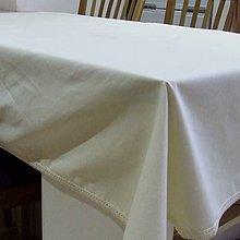 Úžitkový textil - Kuchynský obrus veľký - UNI smotanový 160x120 - 11170047_