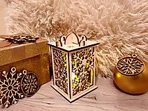 Svietidlá a sviečky - Drevený  vianočný svietnik. - 11168734_