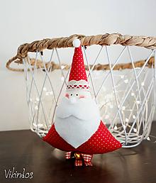 Dekorácie - Mikuláš vianočný...červený - 11169048_