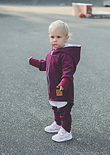 Detské oblečenie - Prechodná softshell bunda Bordo - 11169941_