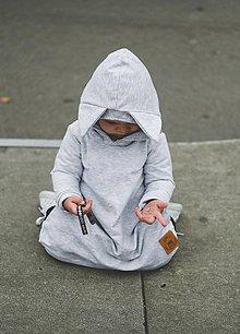 Detské oblečenie - Rastúce šaty Fox  (šedý melír) - 11170005_