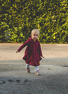 Detské oblečenie - Rastúce šaty Fox  (bordová) - 11170015_