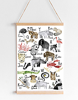 Detské doplnky - Art Print - abeceda - 11169432_