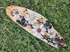 Dekorácie - Drevený obrázok - kvety. - 11168941_
