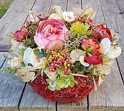 Dekorácie - jesenná ruža - 11173103_