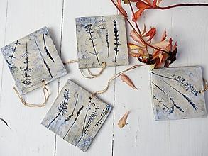 Obrázky - Keramické obrázky bylinkové modré - 11171791_