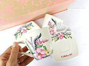 Nádoby - Svadobné šálky - Kvetinová záhrada - 11170751_