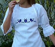 Detské oblečenie - Zásterka Ramia Vtáčik SlovAB - 11170299_