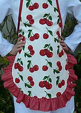 Detské oblečenie - Zásterka Čerešničky s volánom aj bez - 11170336_
