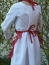 Detské oblečenie - Zásterka Čerešničky s volánom aj bez - 11170344_