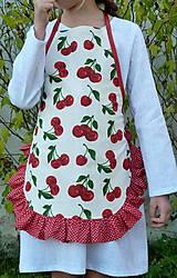 Detské oblečenie - Zásterka Čerešničky s volánom aj bez - 11170345_