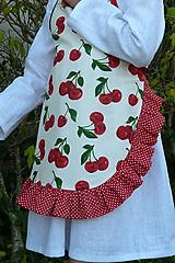 Detské oblečenie - Zásterka Čerešničky s volánom aj bez - 11170347_