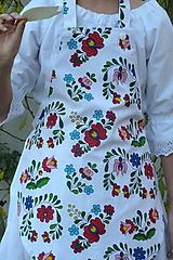 Detské oblečenie - Zásterka Folklórne kvety - 11170391_