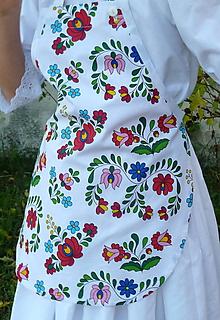 Detské oblečenie - Zásterka Folklórne kvety - 11170389_