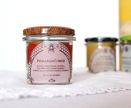Svietidlá a sviečky - SVIEČKA z včelieho vosku pomaranč/med - 11172095_