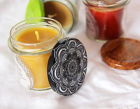 Svietidlá a sviečky - SVIEČKA z včelieho vosku pomaranč/med (Žltá) - 11172116_