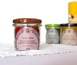 Svietidlá a sviečky - SVIEČKA z včelieho vosku ruža/med - 11172171_