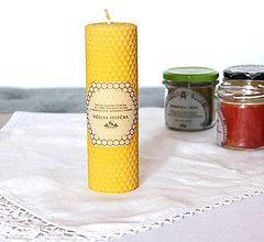 Svietidlá a sviečky - Veľká sviečka z včelieho vosku - 11172484_