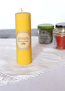 Svietidlá a sviečky - Veľká sviečka z včelieho vosku  (sviečka veľká) - 11172496_