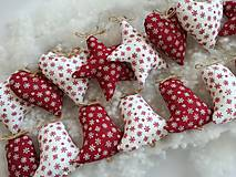 Vianočné ozdoby hviezdy,zvončky,srdiečka