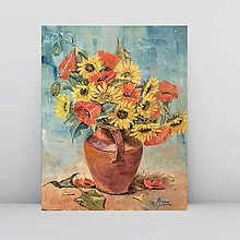 Obrazy - Sunflowers and poppies - 11171230_
