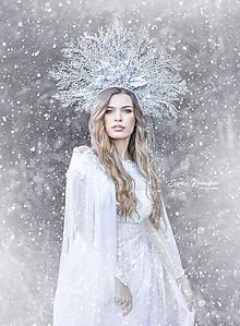 Ozdoby do vlasov - Koruna Ľadová kráľovná - 11172231_