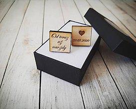 Šperky - Manžetové gombíky drevené - 11170867_