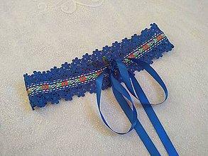 Opasky - Folk opasok  (Modrý) - 11170316_