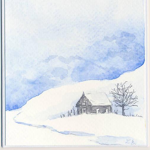 Pohľadnica - Zimná krajinka 3